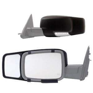 New Fit System 80710 Snap-On Black Towing Mirror for Dodge Ram 1500/2500/3500, Pair