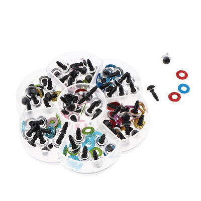 70 Pieces Owl Eyes with Glitter Nonwoven & Washers for Stuff