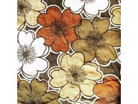 Vintage curtains - (Flower power design) *Plus vintage Wallpaper*