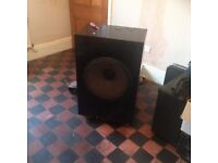 "Bass speaker cabinet with 18"" Fane pop 100 - good working condition"