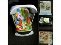 Fisher price foldable swing like new with box