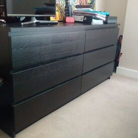 Ikea Malm Chest of 6 draws - 12 months old, in good condition