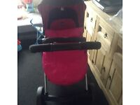 Chicco urban pushchair plus baby walker play Mat and brand new clothes