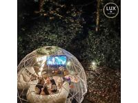 Luxury Igloo Hire - Garden Dining and Cinema pods for hire and events