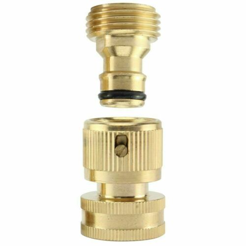 """3/4"""" Garden Hose Quick Connect Water SOLID Brass Female Male Connector Set"""
