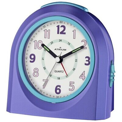 ATRIUM Wecker Kunststoff Analog Licht Alarm lila blau A921-8 (Wecker Lila)