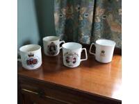 Royal memorabilia mugs
