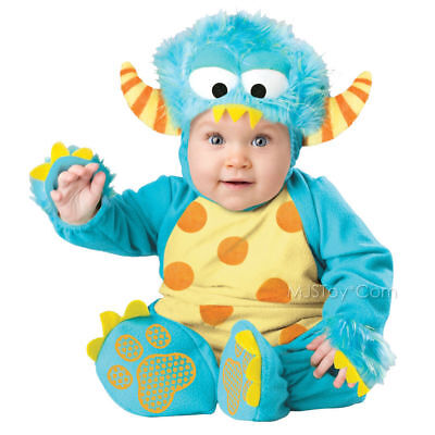 Baby Boo In Character Costumes Infant Blue Mini Monster Costume 18-24 Mo 10- NWT