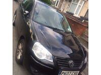 2007 Volkswagen Polo Black. 3 Door. LOW MILEAGE