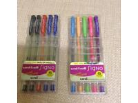 NEW uni-ball Signo Gel Ink Roller Ball Pens, 2 for £8
