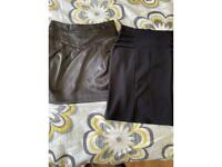 Bundle of two above knee skirts size 8