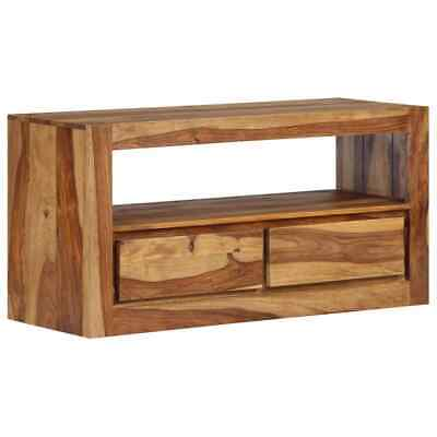 TV Cabinet Solid Sheesham Wood 80x30x40 cm   Wood Furniture