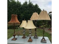 Collection of Antique Style Elegant Table Lamps