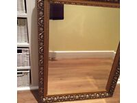 Gold framed mirror 71.12 x 55.88 cm 28 X 22 inches