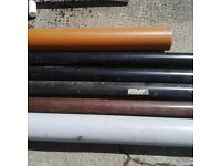 Pipes variety of sizes ,coolurs Plastic or Wrought