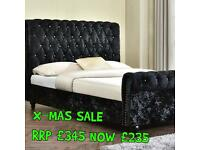 Chesterfield Style Sleigh Bed #X MAS SALE 🌲HUGE SAVINGS!!
