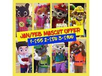 Kids Party Mascot Character Visits Paw Patrol Trolls PJ Masks Shopkins Spiderman etc