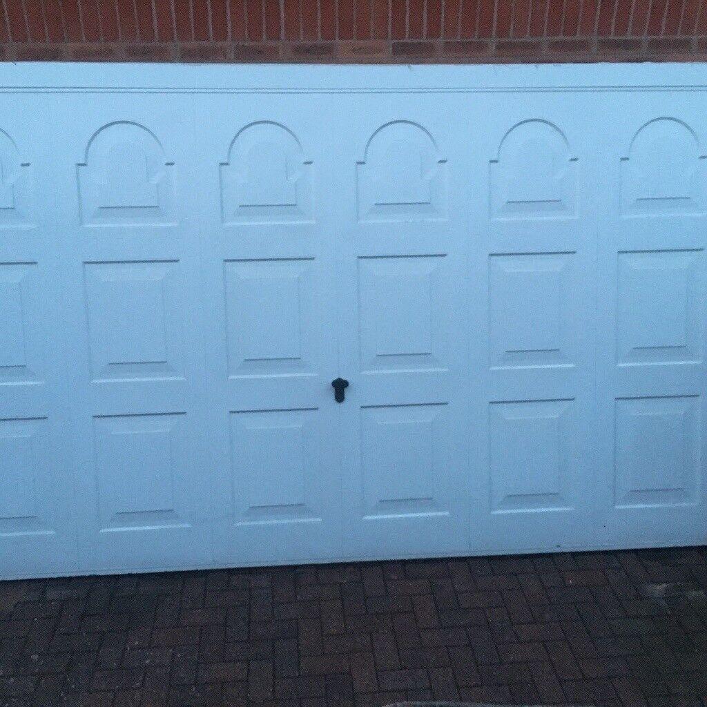 Double electric garage door white chamberlain in bilston west double electric garage door white chamberlain rubansaba