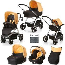 Hauck Priya Trio Travel System 2 Way Facing pushchair Pram Set + Baby Walker