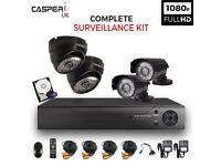 1080p HD Bullet and Dome Cameras 4CH HDMI DVR Security kit Complete CCTV System