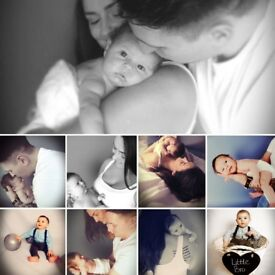 Limited time offer! £30 Mother's Day photo shoot. Newborn and baby, parents too!