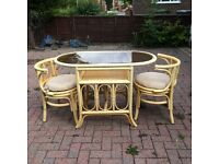 A set of conservatory furniture
