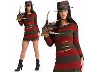 Fancy Dress Miss Krueger Costume/Outfit/Fancy Dress # £30 *BRAND NEW IN PACKAGING* RUNCORN