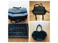 HUGE BUNDLE of 10 Ladies Handbags & FREE extras