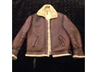 Sheepskin Flying Jacket...Old And Nicely Worn In