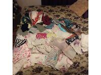 Bundle of infant girls clothes