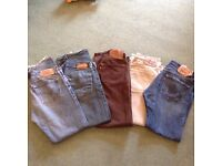 Levi 501 jeans X 5 pairs. Waist 32.leg 30.