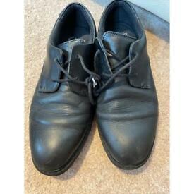 Clark's black boys school shoes 4E