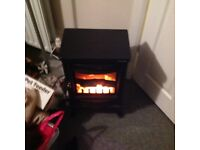 Black stove fire, electric, small