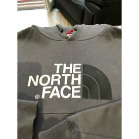 North face grey hoodie small men's