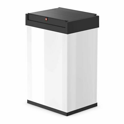 Hailo Waste Bin Dust Trash Disposal Box Big-Box Swing Size L 35 L White 0840-131
