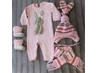 Baby Girl Clothes 6-9 Months 5 Pieces WINTER Clothing Bundle