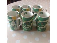 6 X crocodile mugs