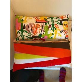 2 IKEA cushions