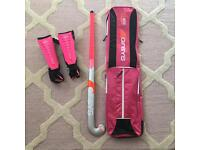 Grays hockey stick/shin pads/bag