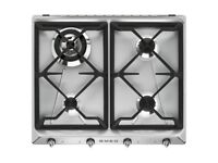 Brand New Smeg SR964XGH Victoria 60cm Stainless Steel 4 Burner Gas Hob RRP £319.00