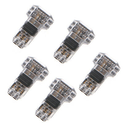 5pcs 2 Pin 2 Wires 300v 10a Universal Compact Wire Connector T Style Cable Clamp