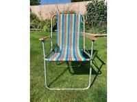 Retro / vintage folding deck chair