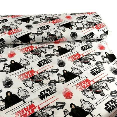 Fat Quarter Star Wars The Last Jedi 100% Cotton Quilting Fabric