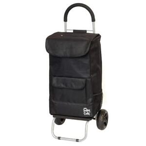 NEW dbest products Cooler Trolley Dolly, Black Insulated Cooler Bag Folding Collapsible Rolling