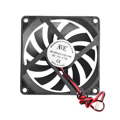 12V 2Pin DC Brushless 8cm 80x80x10mm 80mm Computer Industrial Cooling Case Fan