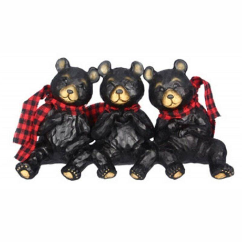 Tabletop Black Bears Figurine