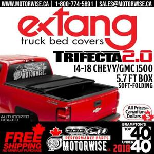 2014-2018 Silverado & Sierra 1500 Extang Trifecta 2.0 Soft Folding Tonneau Cover | 5.7 ft Bed | Free Shipping |