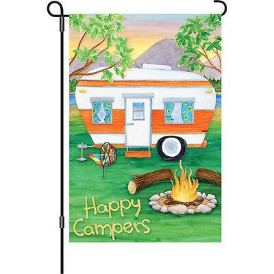 """Happy Camper Brilliance (12"""" x 18"""" Approx ) Garden Size Flag PR 51093"""