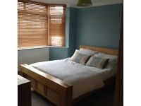 Oak King size bed and mattress