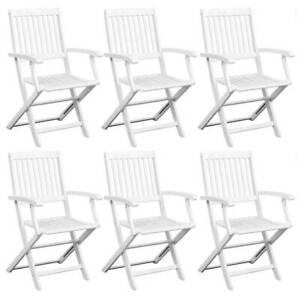 FREE SHIPPING Dining Chairs 6 pcs White Solid OYIJZ-J9P2Q-276475